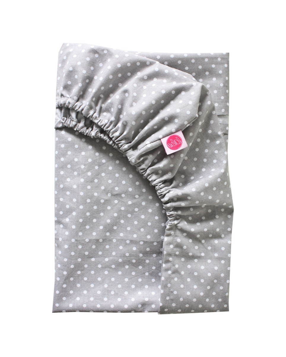 Poppy On Gray Fitted Crib Sheet