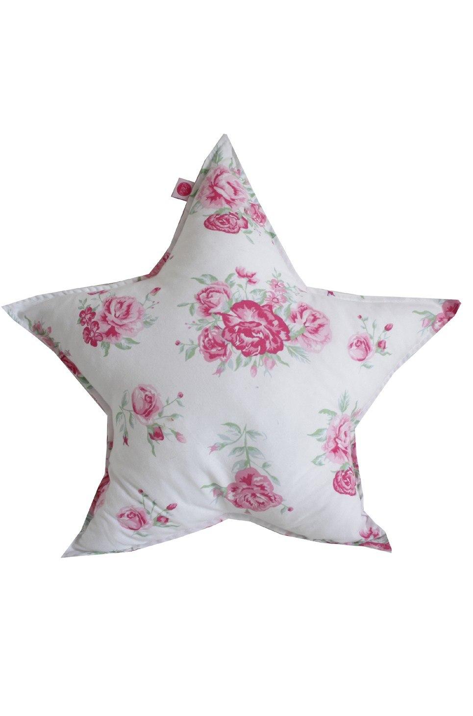 Roses On Star Children's Cushion