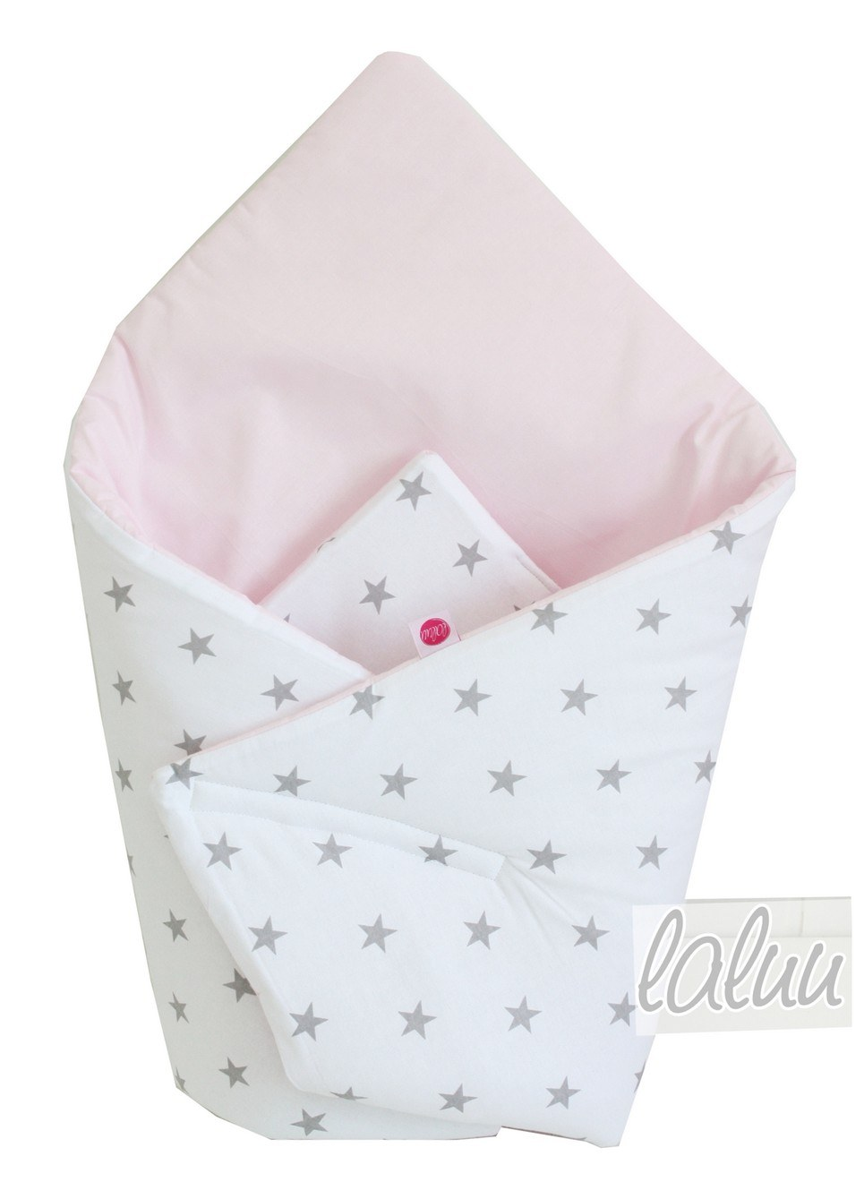 Stars On Gray and Light Pink Baby Horn