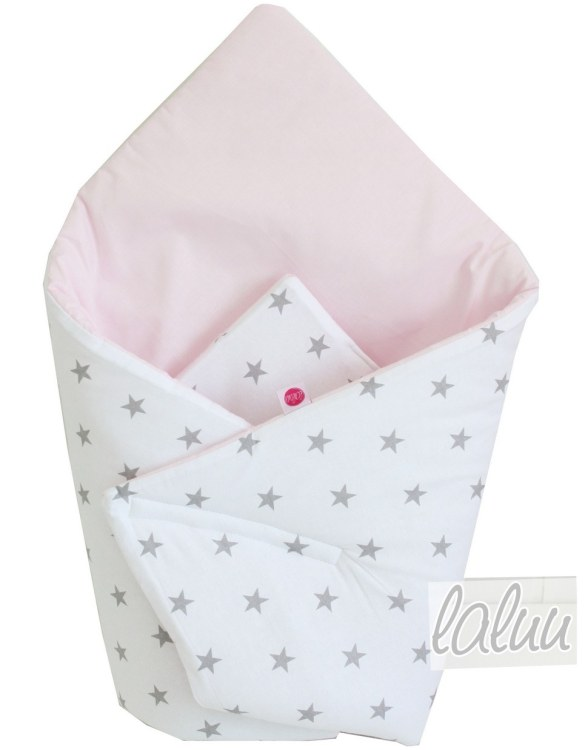 A great idea for newborns, the Stars On Gray and Light Pink Baby Horn is the perfect accessory for the busy on the go parent. Keeps your baby comfortable with out the hassle of losing dropping or running over your blanket!