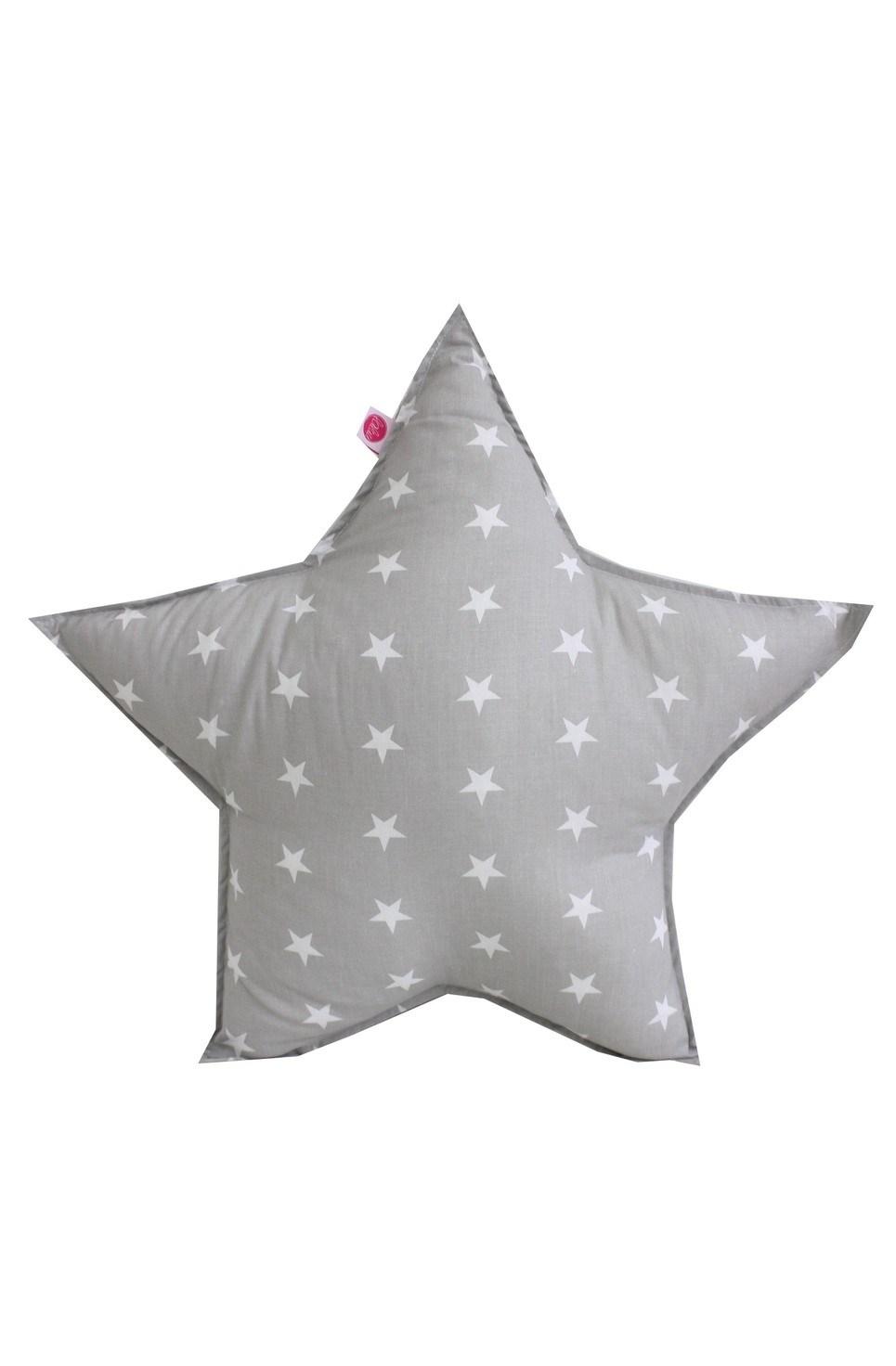 Stars On Grey Children's Cushion