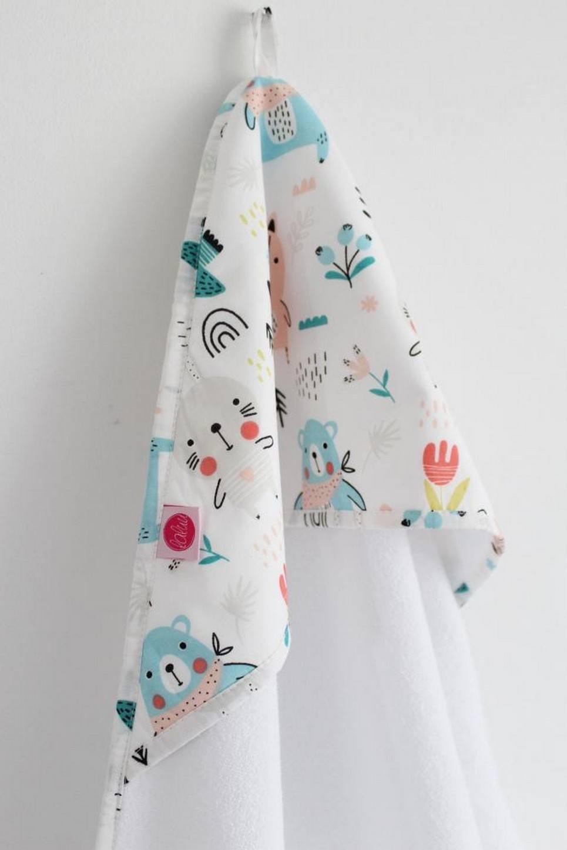 Teddy Bears Girl Baby Bath Towel