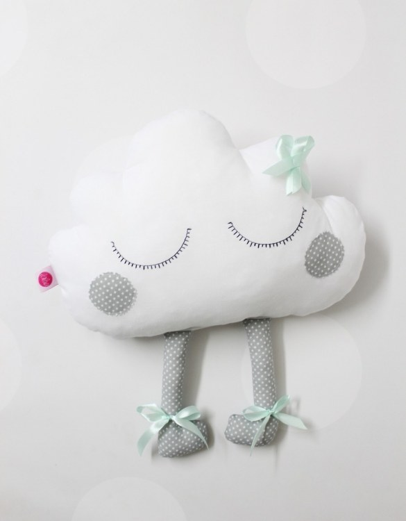 Perfect to bring the child inside everyone, the Gray and Mint Cloud with Embroidery will add that pop of colour into any kid's bedroom or nursery!