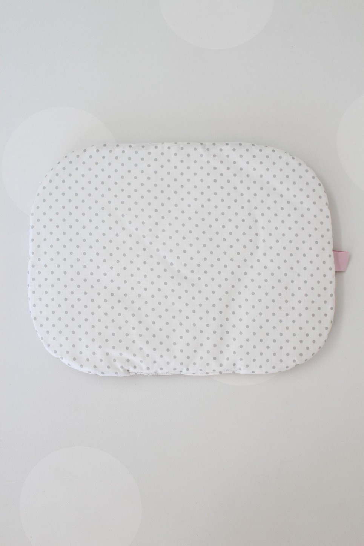 Grey Dots Baby Flat Head Pillow