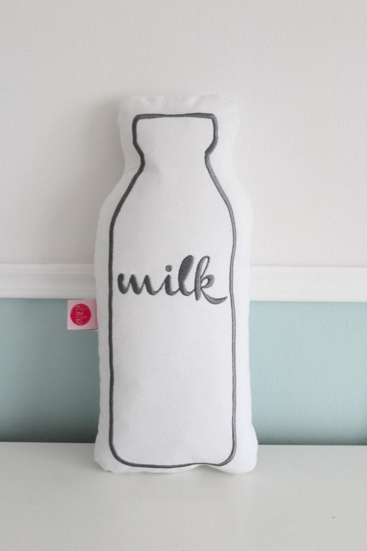 Milk Grey Embroidered Children's Cushion