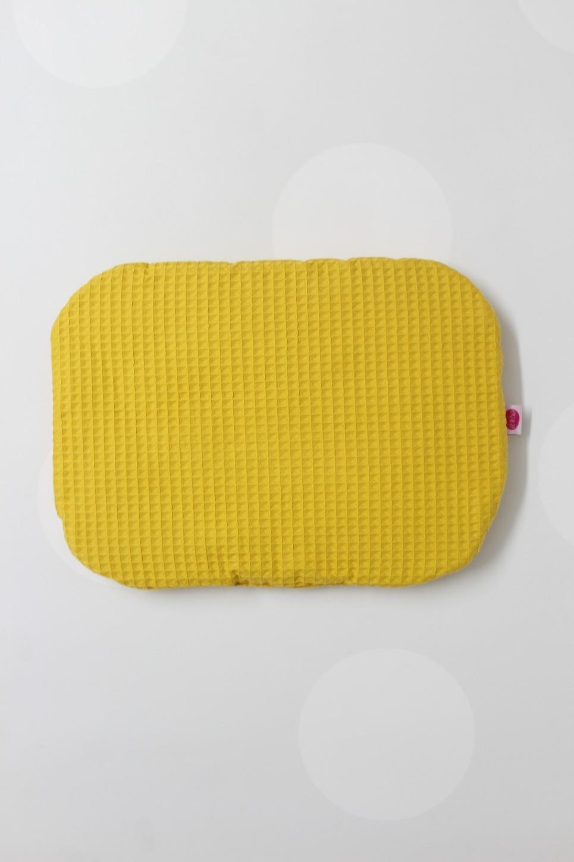 Mustard Wafel Baby Flat Head Pillow