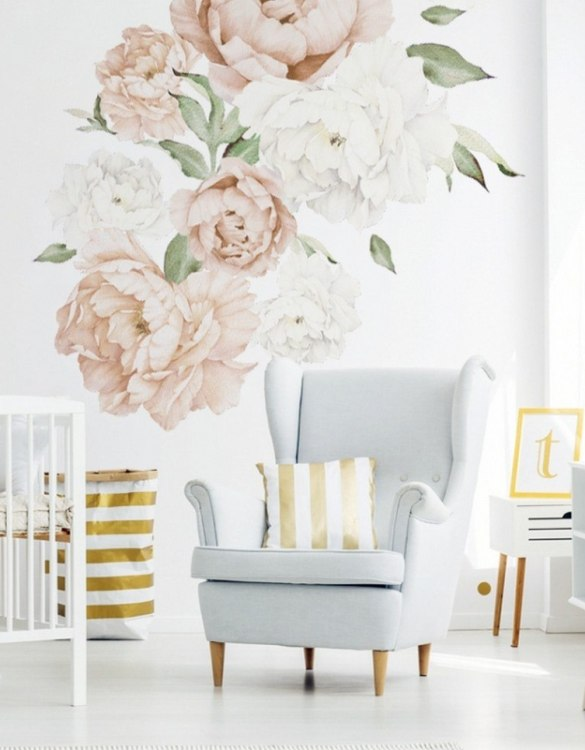 A beautiful scene for children's rooms and nurseries, the Peach Peony Children's Wall Sticker is the perfect addition to any empty space (like walls or furniture). These wall stickers provide a flexible and cost-effective way to decorate your home.