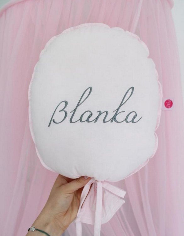Perfect to bring the child inside everyone, the Pink Personalized Balloon Pillow is a wonderfully decorative and timeless addition to any child's room. This beautiful nursery balloon pillow is made from soft and cosy cotton.