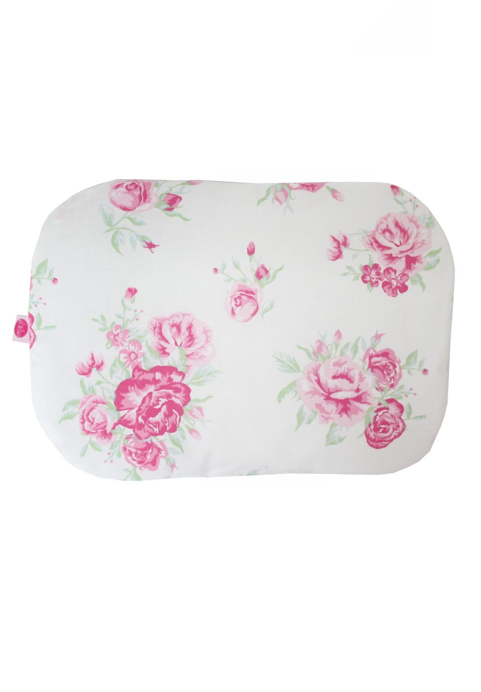 Roses On White Baby Flat Head Pillow