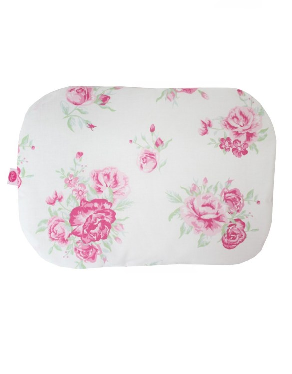 Beautifully soft and cuddly, the Roses On White Baby Flat Head Pillow is an adorable gift for a baby shower and also for nursery or kids' room decoration. A child up to 2 years old should sleep on a flat pillow.
