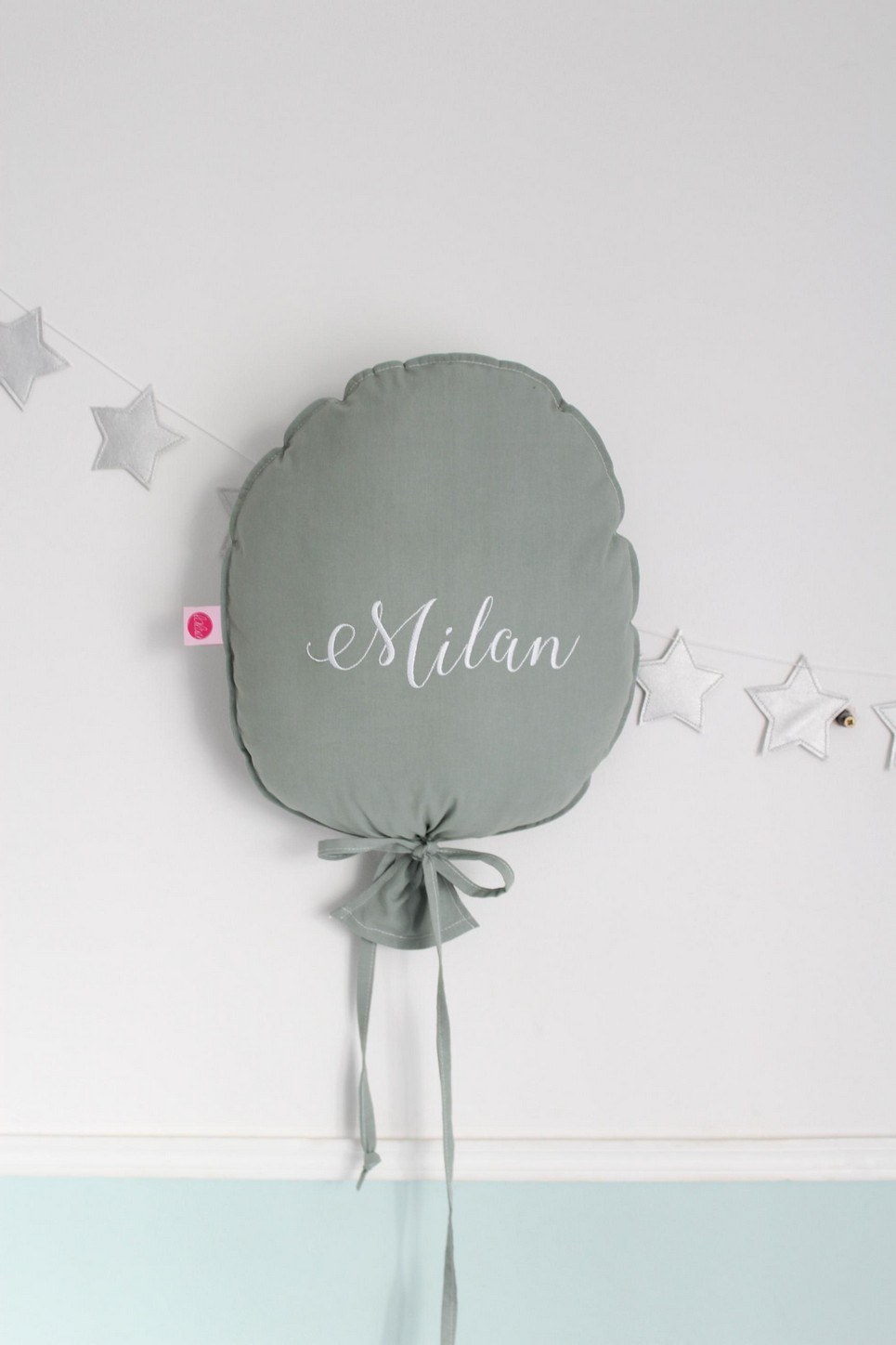 Sage Personalized Balloon Pillow