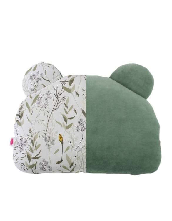 Beautifully soft and cuddly, the Sage and Meadow Teddy Bear Baby Pillow is an adorable gift for a baby shower and also for nursery or kids' room decoration. This baby head pillow can be used with car seats, strollers, and baby prams.