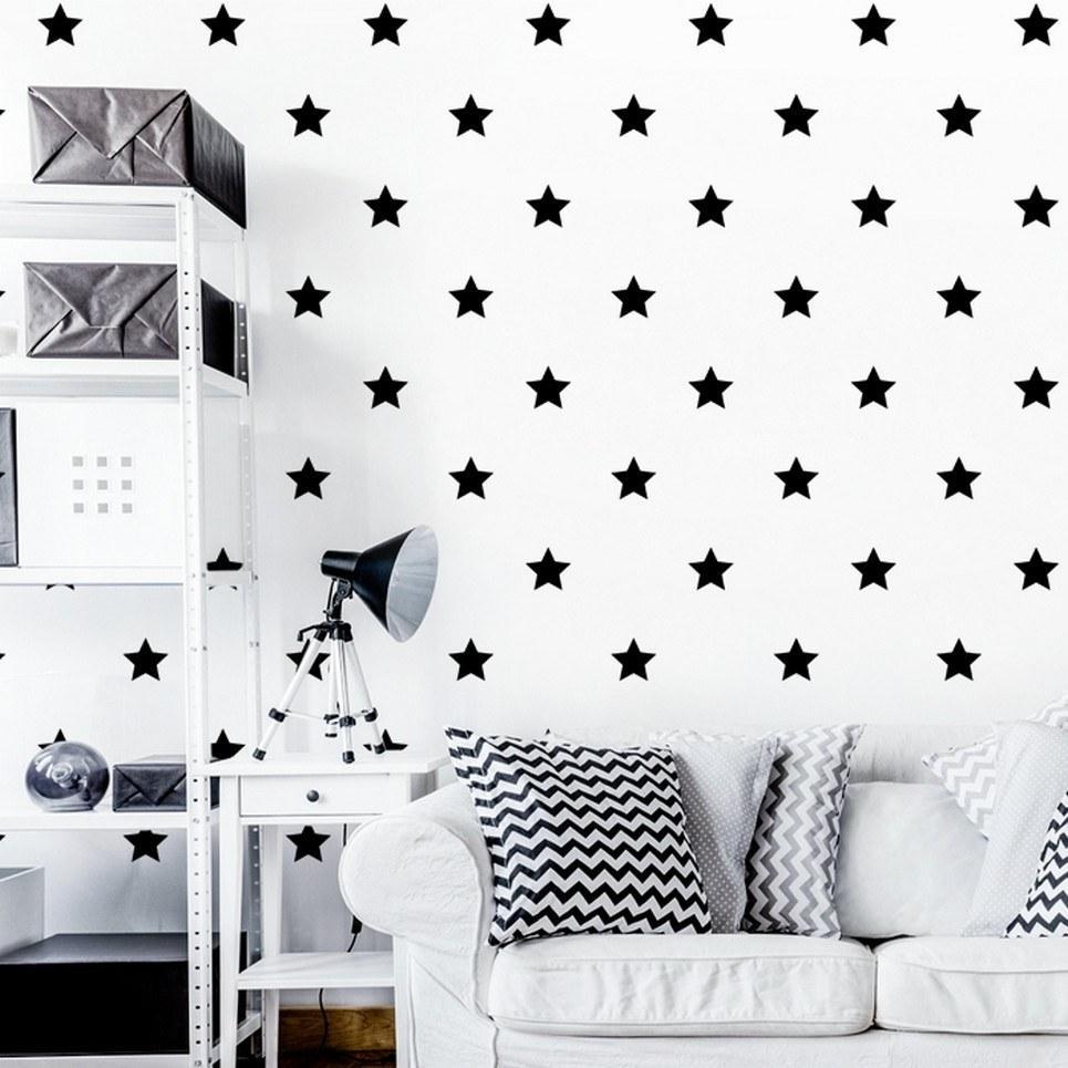 Black Stars Children's Wall Sticker