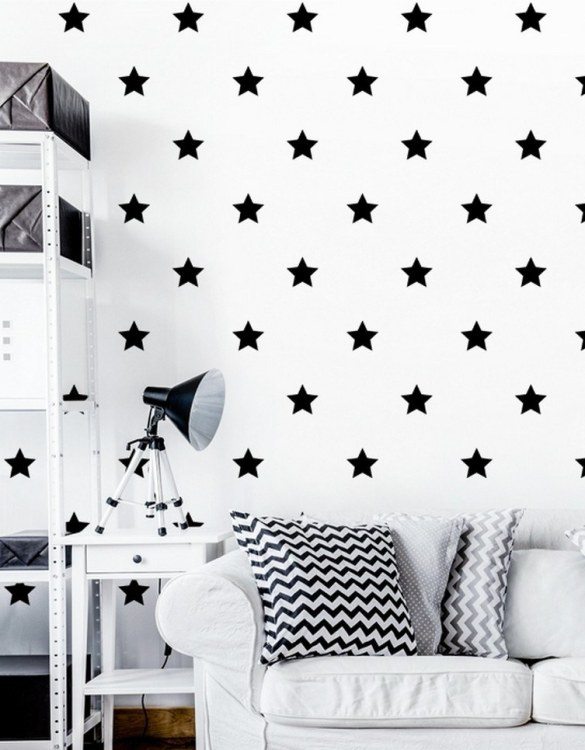 A beautiful scene for children's rooms and nurseries, the Black Stars Children's Wall Sticker is the perfect addition to any empty space (like walls or furniture). These wall stickers provide a flexible and cost-effective way to decorate your home.