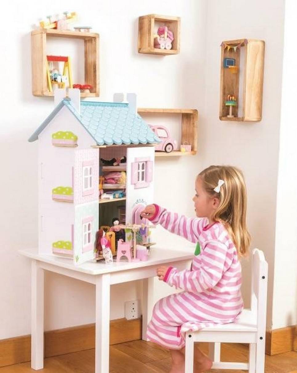 Blue Bird Cottage Wooden Dolls House