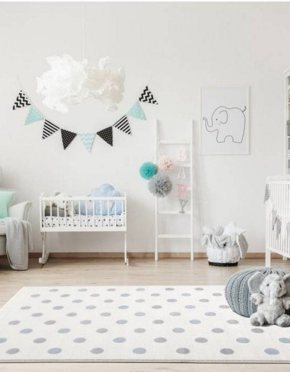 The perfect accessory for any nursery or child's bedroom, the Cream with Polka Dots Children's Rug is a dreaminess that will certainly inspire your little one's creative play.