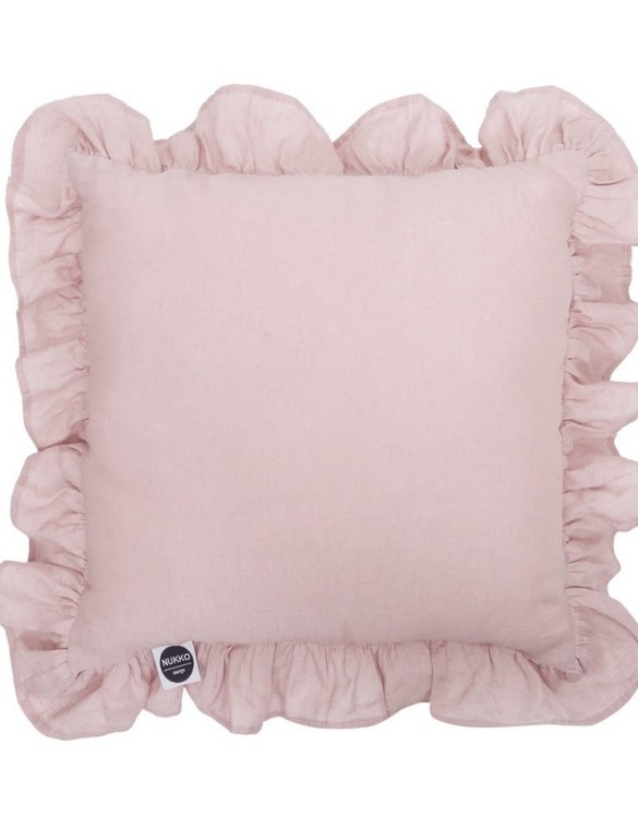 Perfect as a newborn pillow, the Dusty Pink Ruffled Linen Pillow is a great addition for a nursery, children's room, baby crib, or kid's playroom. It makes the perfect gift!