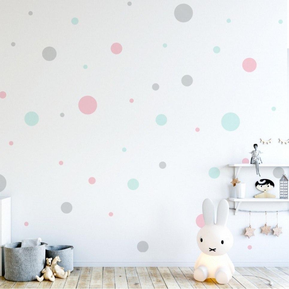 Pastel Dots Children's Wall Sticker