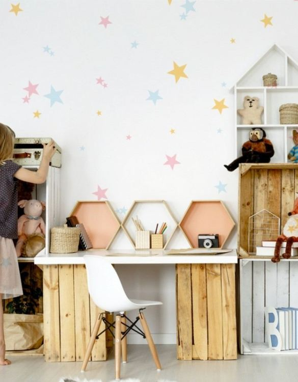A beautiful scene for children's rooms and nurseries, the Pastel Stars Children's Wall Sticker is the perfect addition to any empty space (like walls or furniture). These wall stickers provide a flexible and cost-effective way to decorate your home.