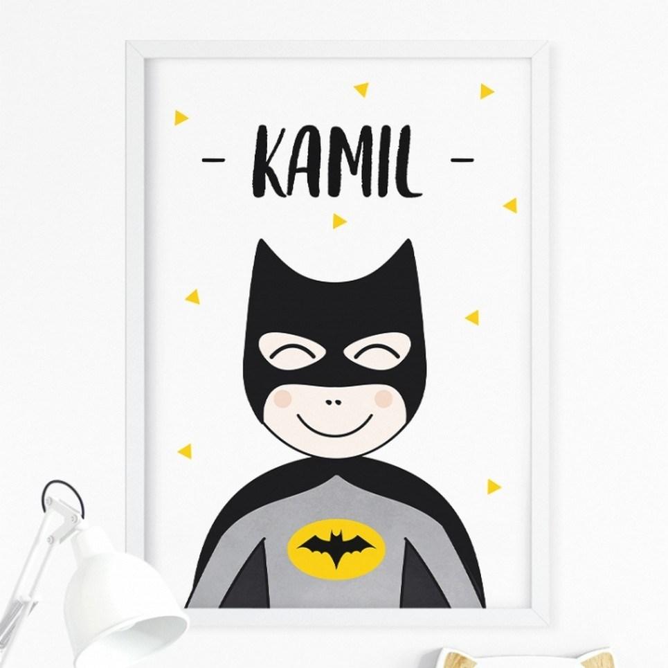 Personalised Super Hero Children's Poster