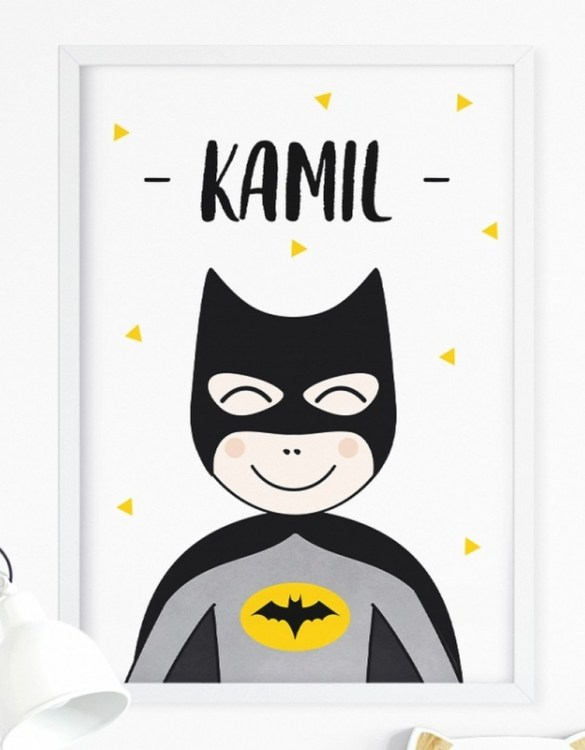 A unique keepsake that will create enchanting memories, the Personalised Super Hero Children's Poster is a really unique and eyecatching print that is loved by kids and adults. Encourage their wild side with this fun print. Designed in a playful font, they will make a great addition to any nursery, child's room, or playroom.