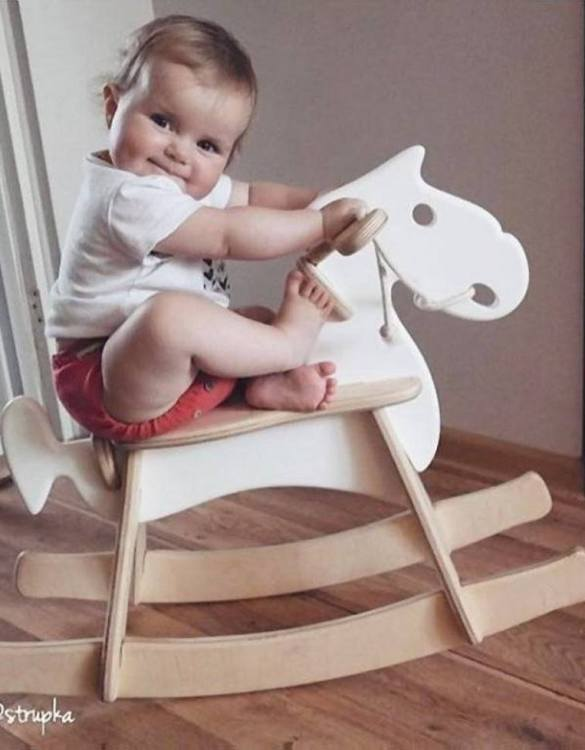 Safe for all ages 18 months and up, the Retro Children's Rocking Horse is certainly an original accessory that all your friends will envy your child. This beautiful wooden rocking toy is a lovely and unusual gift that will be enjoyed now and by future generations.