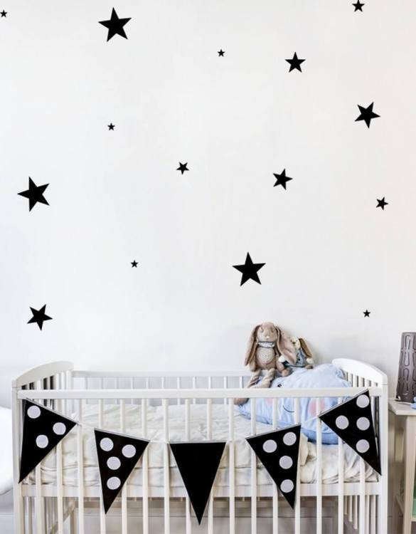 A beautiful scene for children's rooms and nurseries, the Stars Children's Wall Sticker is the perfect addition to any empty space (like walls or furniture). These wall stickers provide a flexible and cost-effective way to decorate your home.