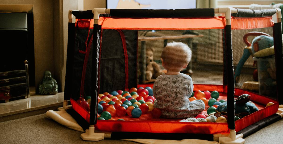 The infants love playing in the ball pit. They will dive in and have fun. They love to swim and crawl through the balls. They even have fun tossing the balls around. Ball pits provide children with a number of opportunities to foster learning.