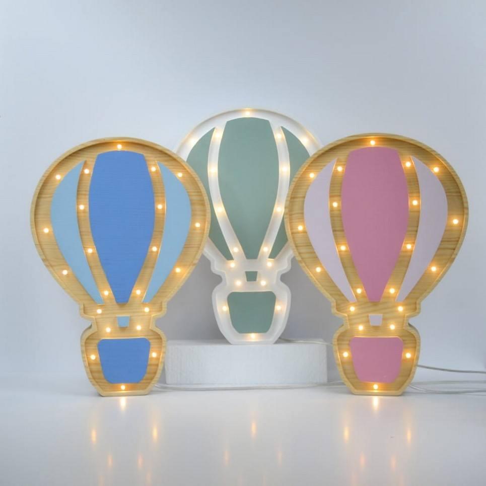 Balloon Wooden Lamp for Children