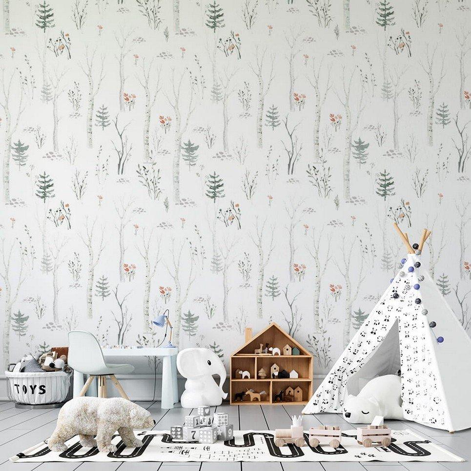 Birch Forest Children's Wallpaper
