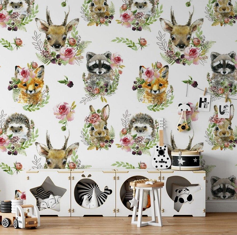Forest Team Children's Wallpaper