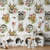 Sure to be adored by little ones, the Forest Team Children's Wallpaper is a fun addition to any nursery or playroom. Go on an adventure with our kid's wallpaper for children's rooms! A well-chosen pattern can visually enlarge the interior.