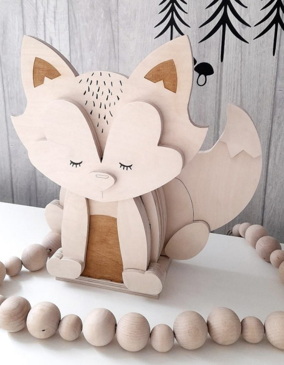 A must-have element of the decor of a child's room, the Fox 3D Wooden Lamp for Children will soon become your child's favourite part of their bedtime routine and will help make their bedroom feel extra safe and cosy.