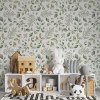 Sure to be adored by little ones, the Green Leaves Children's Wallpaper is a fun addition to any nursery or playroom. Go on an adventure with our kid's wallpaper for children's rooms! A well-chosen pattern can visually enlarge the interior.