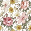 Sure to be adored by little ones, the Retro Flowers Children's Wallpaper is a fun addition to any nursery or playroom. Go on an adventure with our kid's wallpaper for children's rooms! A well-chosen pattern can visually enlarge the interior.