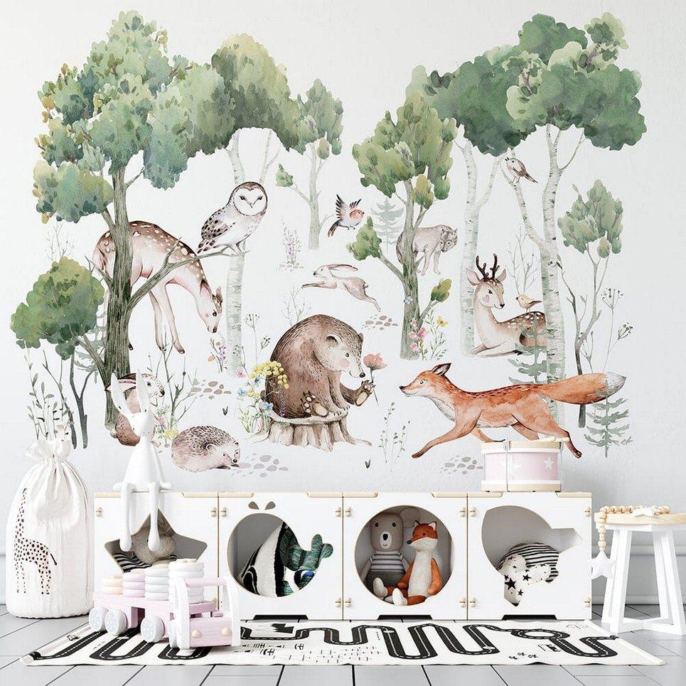 Spring Forest Children's Wallpaper