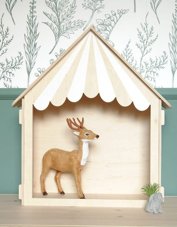 """With a beautiful design, the Theater Shelf-House Children's Dolls House has been created not only for great fun, but also are a unique decoration for children's rooms. Toys that help to pretend to be """"adults"""", such as mini-cookers, prams, or dollhouses are very important in the development of a child."""