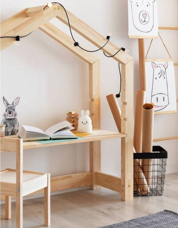 Combining a desk and a space for endless role-play, the Classic House Children's Table does not tell your child what it is but waits for them to decide. Turn your child's room into a real fairytale. This playful kid's table will reliably make every little one happy.
