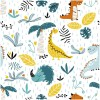Sure to be adored by little ones, the Dinosaurs 2 Children's Wallpaper is a fun addition to any nursery or playroom. Go on an adventure with our kid's wallpaper for children's rooms! A well-chosen pattern can visually enlarge the interior.
