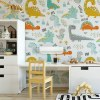 Sure to be adored by little ones, the Dinosaurs 8 Children's Wallpaper is a fun addition to any nursery or playroom. Go on an adventure with our kid's wallpaper for children's rooms! A well-chosen pattern can visually enlarge the interior.