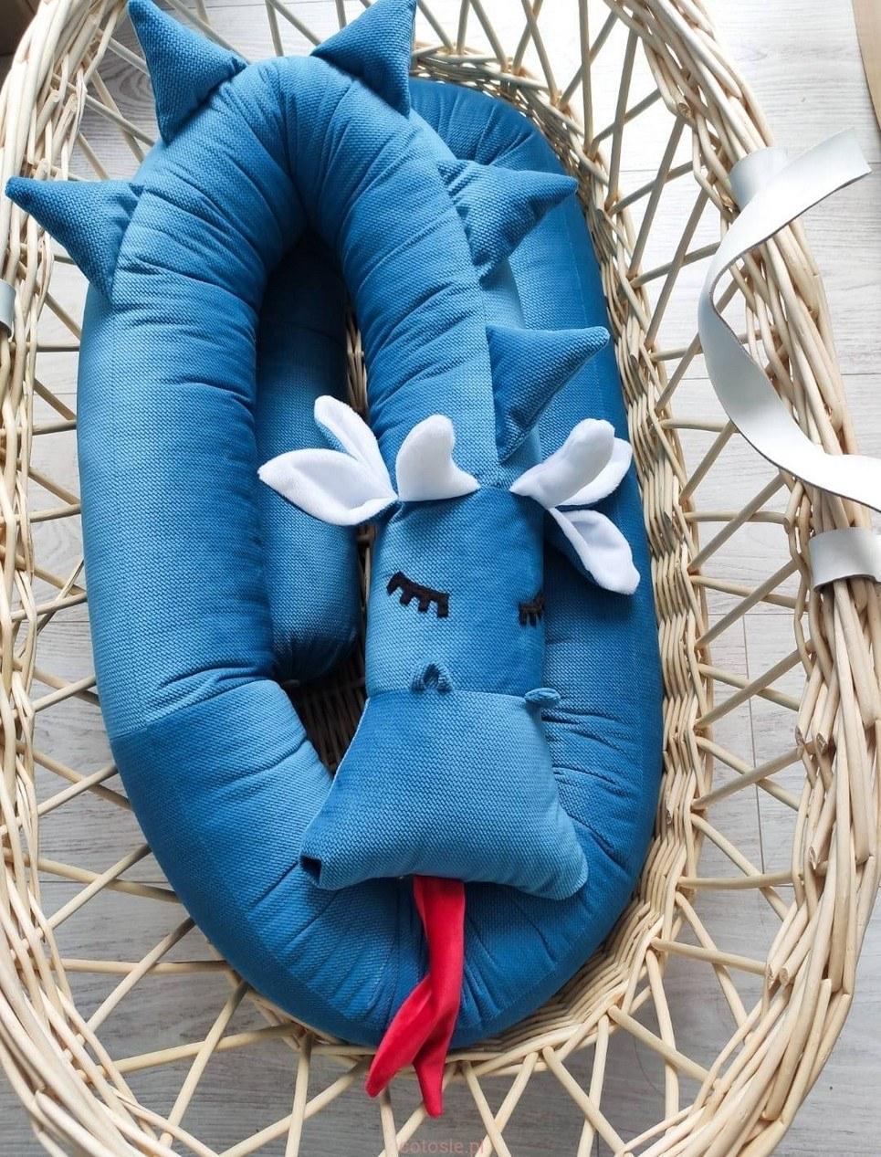 Dragon Turquoise Velvet Cot Bumper
