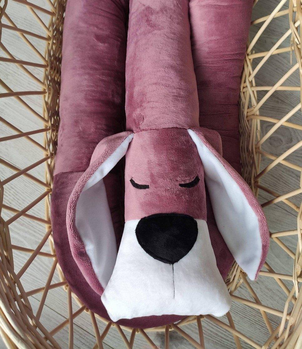 Fox Glove Minky Dog Cot Bumper