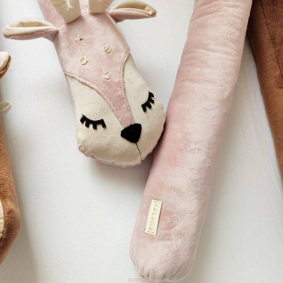 Roe Deer Soft Pink Cot Bumper