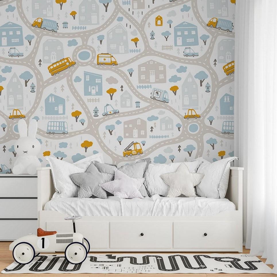 Streets of the City 4 Children's Wallpaper