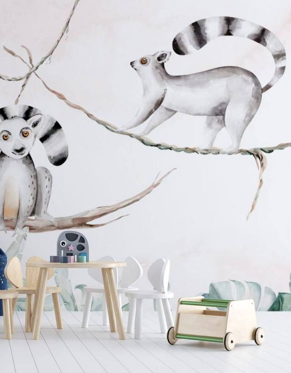 Sure to be adored by little ones, the Jungle and Friends 12 Children's Wallpaper is a fun addition to any nursery or playroom. Go on an adventure with our kid's wallpaper for children's rooms! A well-chosen pattern can visually enlarge the interior.