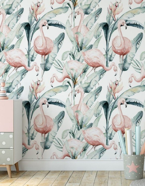 Sure to be adored by little ones, the Jungle and Friends 7 Children's Wallpaper is a fun addition to any nursery or playroom. Go on an adventure with our kid's wallpaper for children's rooms! A well-chosen pattern can visually enlarge the interior.