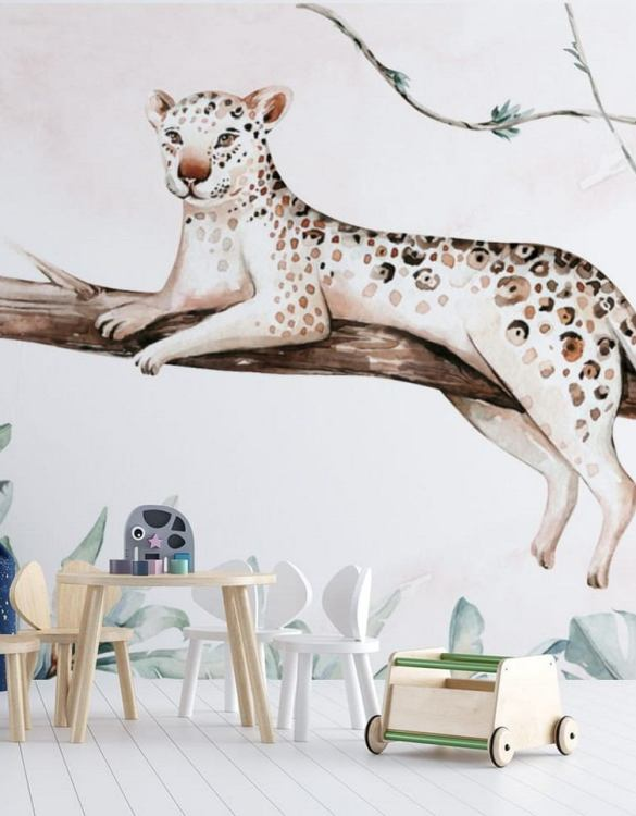Sure to be adored by little ones, the Jungle and Friends 8 Children's Wallpaper is a fun addition to any nursery or playroom. Go on an adventure with our kid's wallpaper for children's rooms! A well-chosen pattern can visually enlarge the interior.