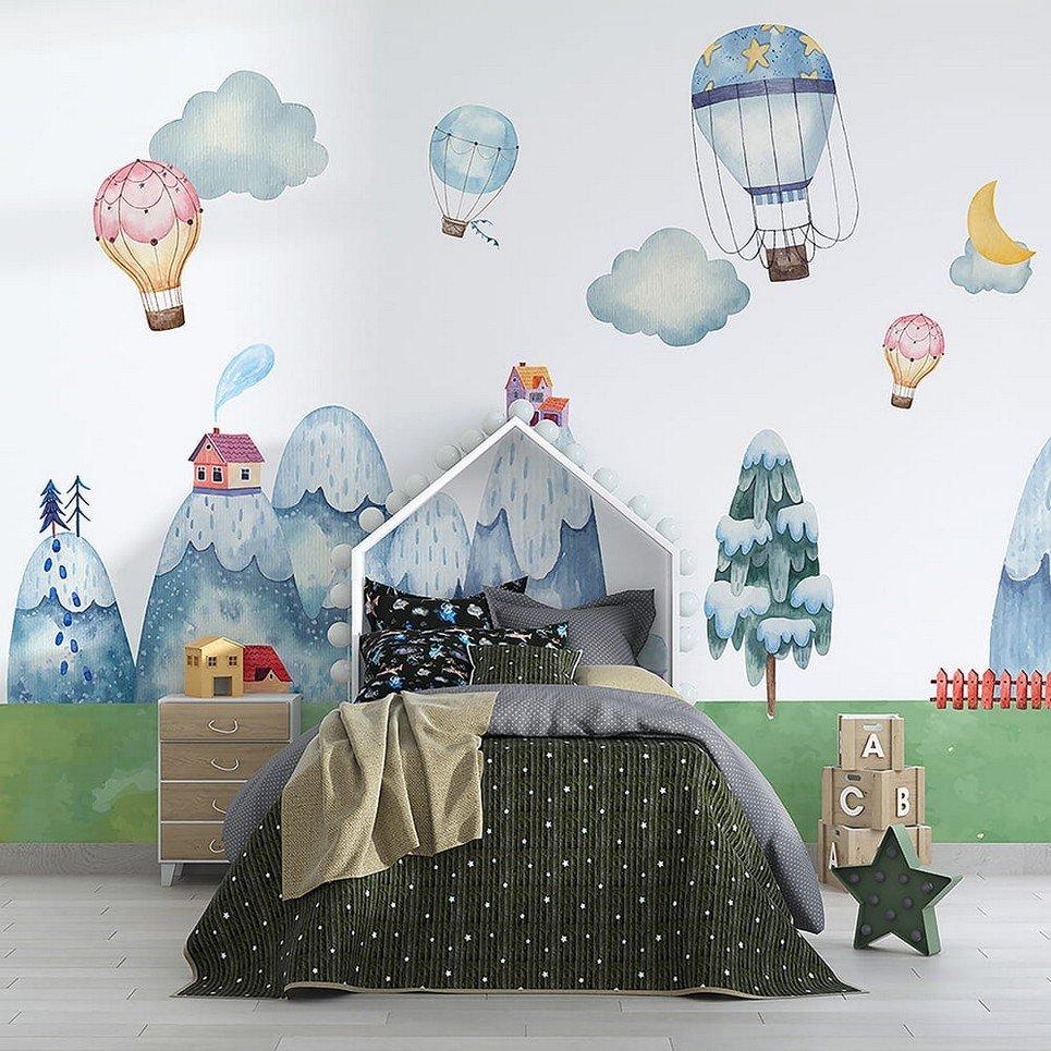 Mountain Land Children's Wallpaper