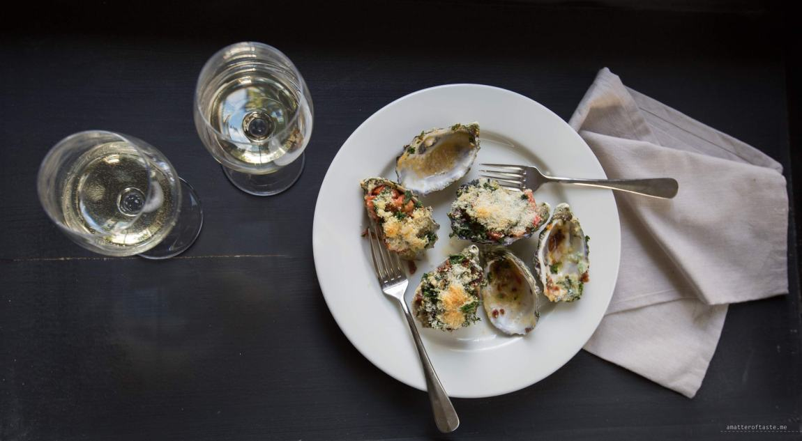 Oysters rockefeller   Phillip Island with Stoneleigh Wines