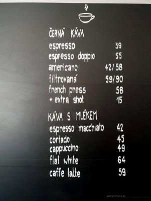 Art Coffee Ostrava menu